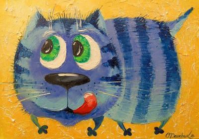 Картина «Хитрый кот»