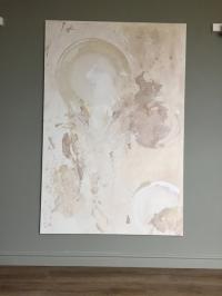 Картина абстракция «Нейтральное настроение» (восьмая из сета) купить живопись для современных интерьеров Украина Киев