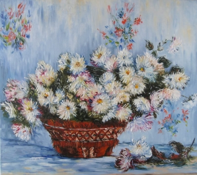 Картина «Хризантемы» копия Моне
