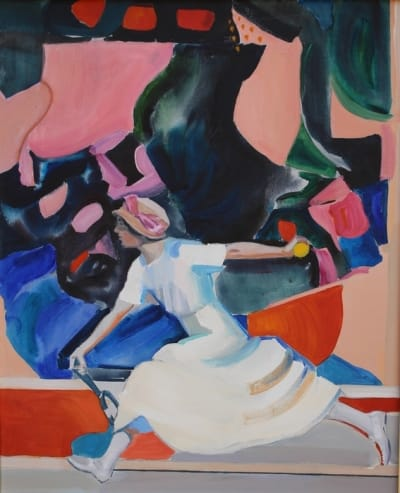 Картина акрил «Игра» купить живопись для современных интерьеров Украина