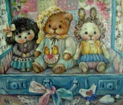 Картина детям «Игрушки» купить живопись для современных интерьеров Украина