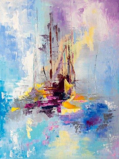 Картина «Иллюзорные корабли»