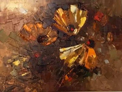 Картина маслом цветы «Индейское лето» купить живопись Украина