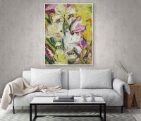 Абстрактные картины цветы ирисы «Краски весны. Ирисы» купить живопись Украина