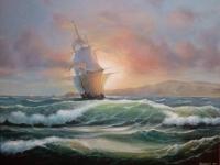 Картина «По волнам» копия Хоенберга Франца
