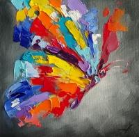 Абстрактная картина бабочка «Каждый раз новый полет» - картины для современных интерьеров Украина