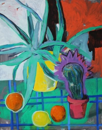 Картина для современных интерьеров натюрморт «Кактус» купить живопись Украина