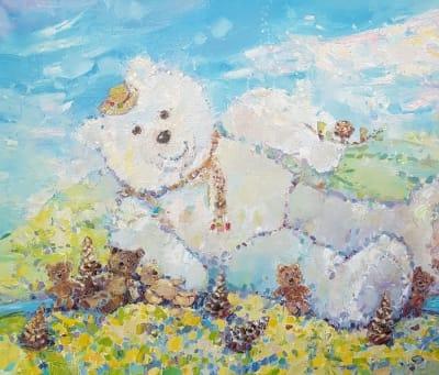 Картина «Мишка в Карпатах»
