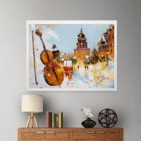 Картина маслом городской пейзаж «Его величество Киев» купить живопись для современных интерьеров Украина