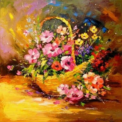 Картина «Корзина цветов»
