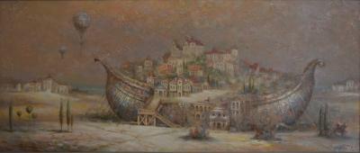 Картина маслом «Ковчег» купить живопись для современных интерьеров Украина