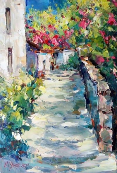 Картина «Крымский дворик»