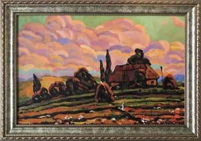 Картина «Крутая дорога» купить живопись для современных интерьеров Украина пейзаж сельский