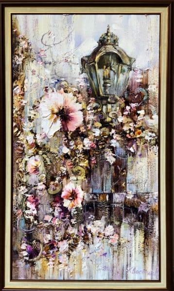 Картина маслом цветы «Кусочек Франции» живопись для современных интерьеров