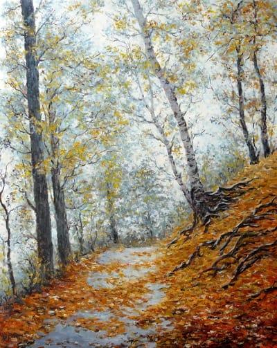 Картина «Аллея», копия картины А.Адамова