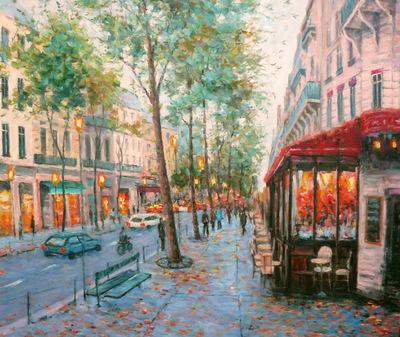 Картина «Городской проспект», копия картины Папроски