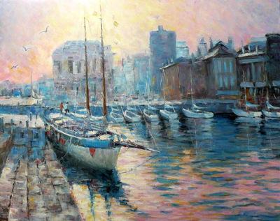 Картина «Причал», копия картины Папроски