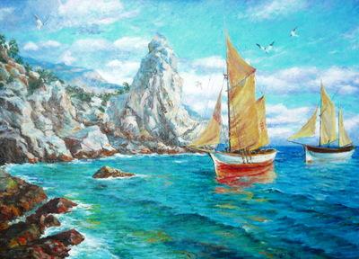 Картина «Паруса», копия картины С.Свиридова