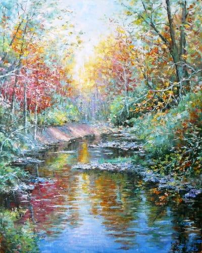 Картина «В конце сентября», копия картины Папроски