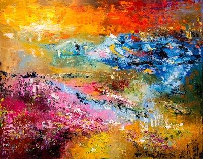 Картина «Лавандовые луга на закате»