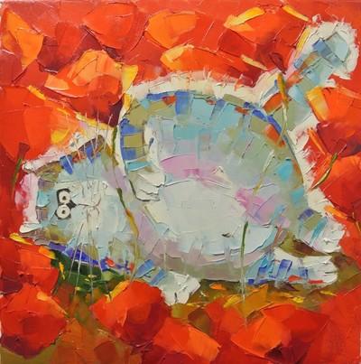 Картина «Ленивый кот» 2