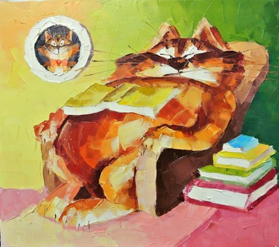 Картина «Ленивый кот» 3