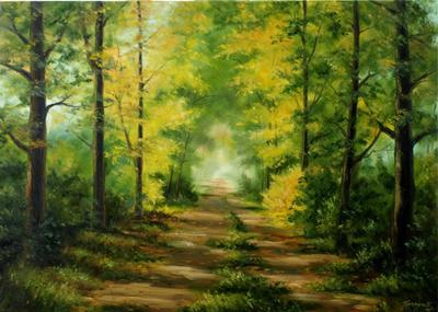 Картина «Лесная дорога»