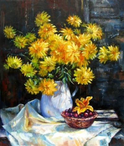Картина «Летние цветы» купить живопись для современных интерьеров Украина