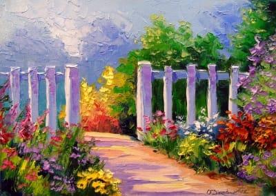 Картина маслом пейзаж «Летний день» - купить живопись для современных интерьеров Украина