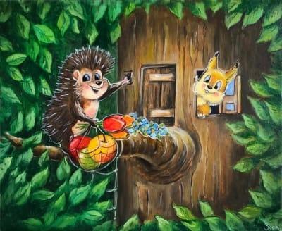 Картина для детской комнаты «Лето» купить картину маслом Киев
