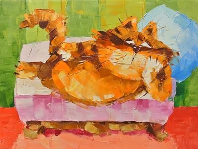 Картина «Ленивый кот»