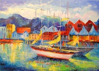 Картина «Лодки Испании»
