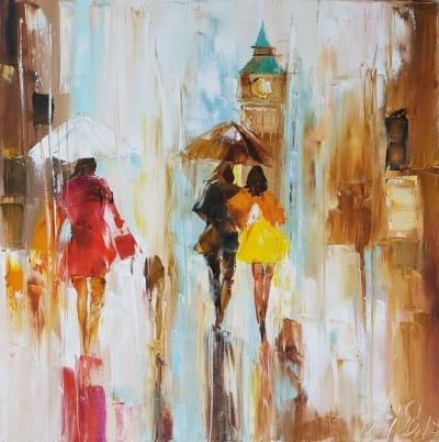 Картина «Лондон. Теплые краски дождя...»