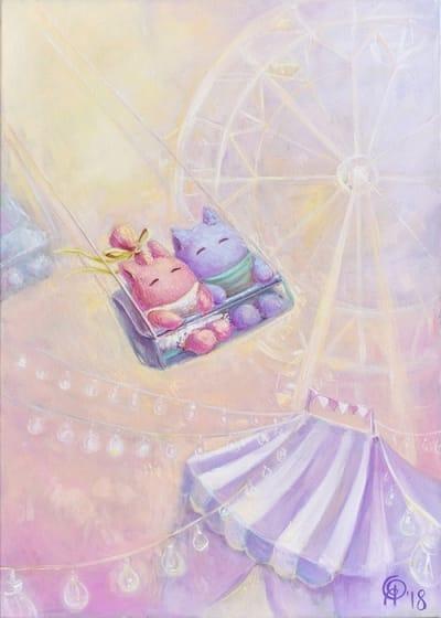 Картина для детской комнаты «Лови момент» купить картину маслом Киев