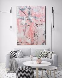 Картина абстракция для современного интерьера «Магнолии» купить живопись Киев