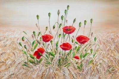 Картина «Маки на пшеничном поле»