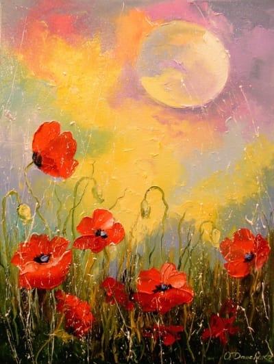 Картина «Маки при лунном свете»