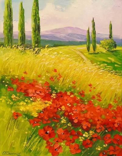 Картина «Маки в поле»