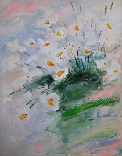 Картина маслом «Маленький букет цветов» - современная живопись Украина
