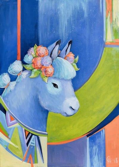 Картина для детской комнаты «Маленький ослик» купить картину маслом Киев