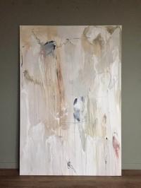 Картина абстракция «Нейтральное настроение» (третья из сета) купить живопись для современных интерьеров Украина Киев