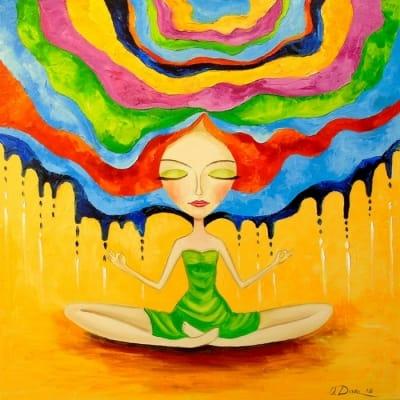 Картина маслом «Медитация» - картины для современных интерьеров Украина