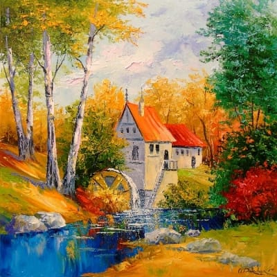 Картина «Мельница»