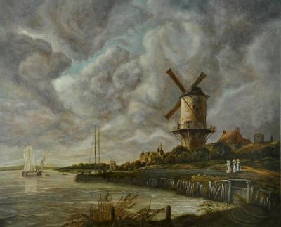 Картина «Мельница в Вейке» копия картины Якоба ван Рейсдала