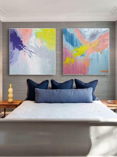 Картины маслом абстракции «Смесь моих желаний» диптих