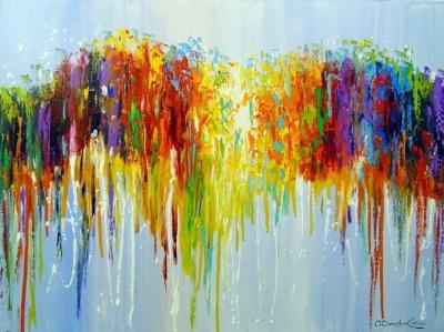 Абстрактная картина «Мысли» купить живопись для современных интерьеров Украина