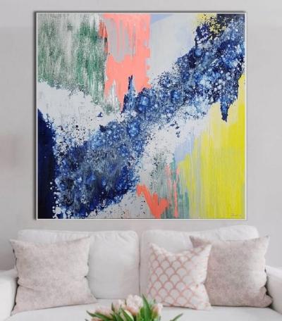 Картины абстракция маслом «Смесь моих желаний» -  живопись для современных интерьеров