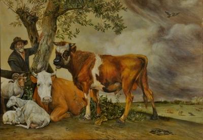 Картина «Телец» копия картины Паулюса Поттера