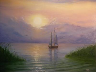 Картина «Вечер на Балатоне»