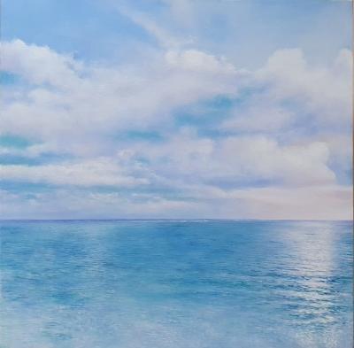 Картина маслом морской пейзаж «Морской пейзаж. Умиротворение» купить современную живопись Украина